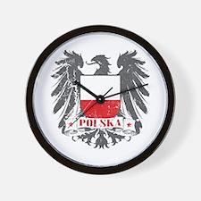 Polska Shield Wall Clock