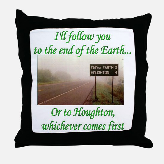 End of the Earth Throw Pillow