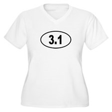 3.1 Womes Plus-Size V-Neck T-Shirt