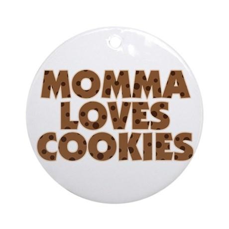 Momma Loves Cookies Ornament (Round)