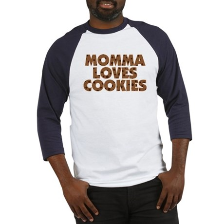 Momma Loves Cookies Baseball Jersey