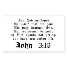 John 3:16 Rectangle Sticker 10 pk)
