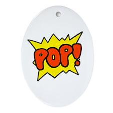 'Pop!' Oval Ornament