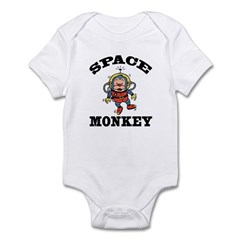 Space Monkey Infant Creeper