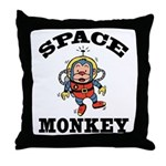 Space Monkey Throw Pillow