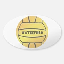 Yellow Water Polo Ball Oval Decal