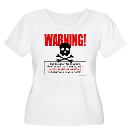 WARNING MMA Women's Plus Size Scoop Neck T-Shirt
