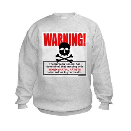 WARNING MMA Kids Sweatshirt