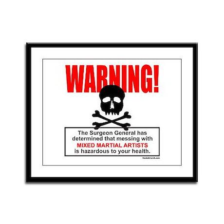 WARNING MMA Framed Panel Print