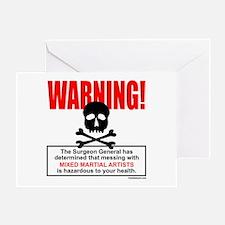 WARNING MMA Greeting Card
