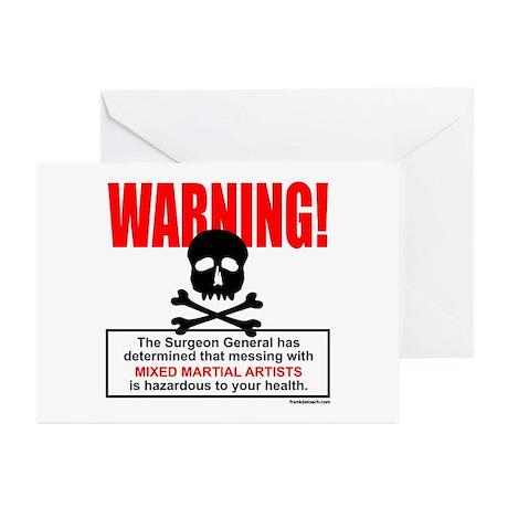 WARNING MMA Greeting Cards (Pk of 10)