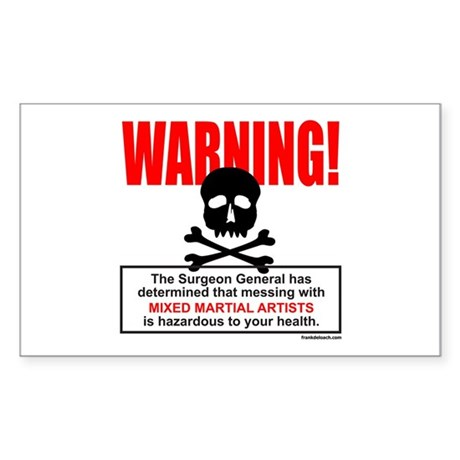 WARNING MMA Rectangle Sticker