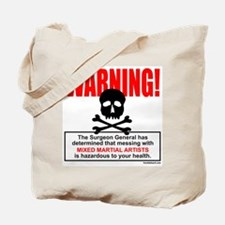 WARNING MMA Tote Bag