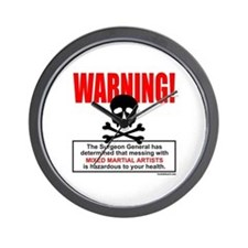 WARNING MMA Wall Clock