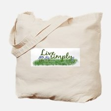 Live Simply (Flowers) Tote Bag