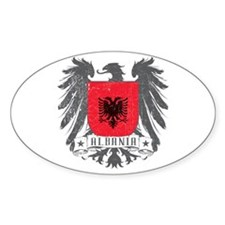 Albania Shield Oval Decal