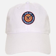 Ask me how to register to Vote Baseball Baseball Cap