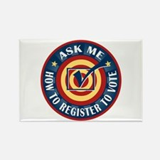 Ask me how to register to Vote Rectangle Magnet (1