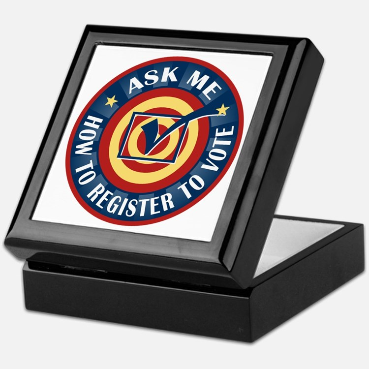 Ask me how to register to Vote Keepsake Box