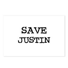 Save Justin Postcards (Package of 8)