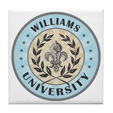 Williams Family Name University Blue Tile Coaster