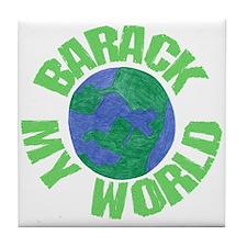 Barack MY World Tile Coaster
