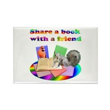 Share Books Rectangle Magnet