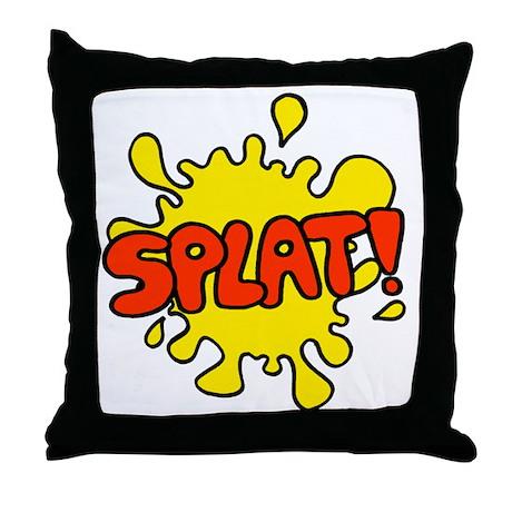 'Splat!' Throw Pillow