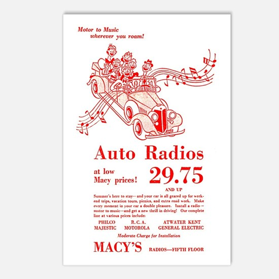 Macy's Auto Radios Postcards (Package of 8)
