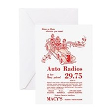 Macy's Auto Radios Greeting Card