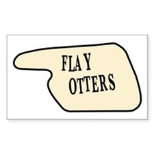 Flay Otters Rectangle Decal