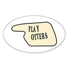 Flay Otters Oval Decal