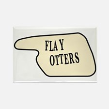 Flay Otters Rectangle Magnet