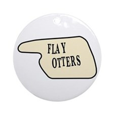 Flay Otters Ornament (Round)