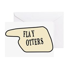 Flay Otters Greeting Card