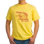 Miss Fisherman Yellow T-Shirt