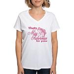 Miss Fisherman Women's V-Neck T-Shirt