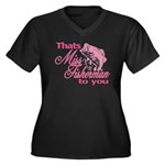 Miss Fisherman Women's Plus Size V-Neck Dark T-Shi