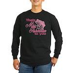 Miss Fisherman Long Sleeve Dark T-Shirt