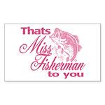 Miss Fisherman Rectangle Sticker 10 pk)
