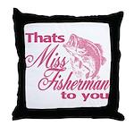 Miss Fisherman Throw Pillow