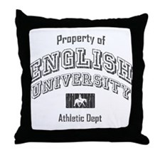 English University Throw Pillow