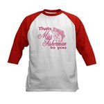 Miss Fisherman Kids Baseball Jersey