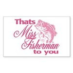 Miss Fisherman Rectangle Sticker