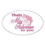 Miss Fisherman Oval Sticker (10 pk)