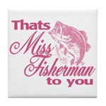 Miss Fisherman Tile Coaster