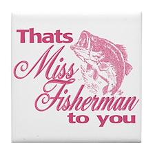 Miss Fisherman Tile Coaster