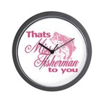 Miss Fisherman Wall Clock