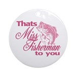 Miss Fisherman Ornament (Round)