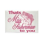 Miss Fisherman Rectangle Magnet
